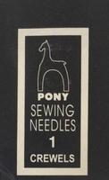 04151 Иглы Pony №1, для шитья и вышивания гладью
