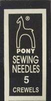 04155 Иглы Pony №5, для шитья и вышивания гладью