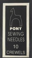 04160 Иглы Pony №10, для шитья и вышивания гладью