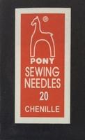 06158 Иглы шенильные Pony, №20