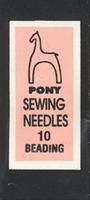 07151 Бисерные иглы Pony, №10, 25 шт.