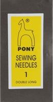 08151 Иглы длинные штопальные Pony, №1, 25 штук