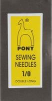 08160 Иглы длинные штопальные Pony, №1/0, 25 штук