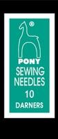 09160 Иглы короткие штопальные Pony №10 бисерные, 25 штук