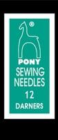 09162 Иглы короткие штопальные Pony №12 бисерные, 25 штук