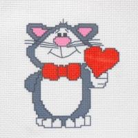 СК1-09 Кот Валентин. Канва с нанесенным рисунком