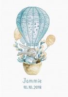 B1150 Kролик на воздушном шаре. Набор для вышивки крестом