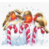 B1154 Рождественские птицы. Набор для вышивки крестом