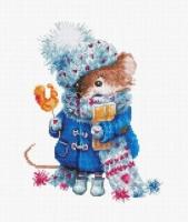B1168 Pождественская мышь. Набор для вышивки крестом