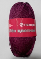Лен цветной Пехорка - ежевика