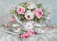 BA2317 Чайный сервиз и розы. Набор для вышивки крестом