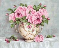 B2319 Розовые розы. Набор для вышивки крестом