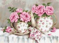 B2320 Утренний чай и розы. Набор для вышивки крестом