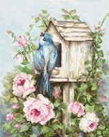 B2352 Птичий дом и розы. Набор для вышивки крестом