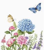 BA2360 Летние цветы и бабочки. Набор для вышивки крестом