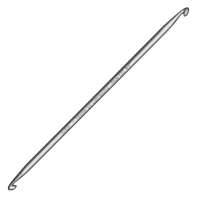 265-7/2-15 Крючок ADDI 2 мм тунисский двусторонний