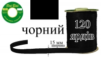 КБА-черная Косая бейка атласная Peri 15 мм
