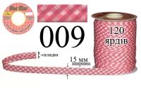 КБШ-009 Косая бейка шотландка матовая Peri 15 мм
