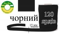 КБМ-черная Косая бейка матовая Peri 15 мм