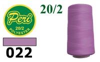 20s/2 Нитки штапельный полиэстер Peri ПОЛ20/2-022, 3500 ярдов