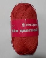 Лен цветной Пехорка - красный