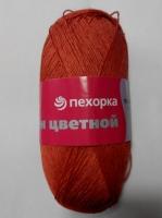 Лен цветной Пехорка - ярко-красный