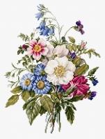 BU4004 Букет летних цветов. Набор для вышивки крестом