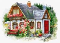 BU4005 Красивый загородный домик . Набор для вышивки крестом