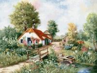 BU4011 Деревенский пейзаж. Набор для вышивки крестом