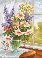 BU4015 Цветы у окна. Набор для вышивки крестом