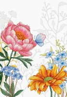 BU4019 Цветы и бабочкa. Набор для вышивки крестом