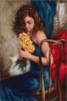 B532 Желтые розы. Набор для вышивки крестом