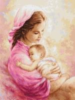 B536 Мать и дитя. Набор для вышивки крестом