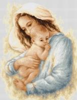 B537 Мать и дитя. Набор для вышивки крестом