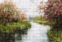 B545 Весенний пейзаж. Набор для вышивки крестом