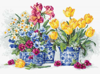 B2385 Весенний сад Набор для вышивки нитками