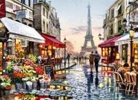 Набір для творчості зі стразами на підрамнику Паризька вуличка 40*50 см