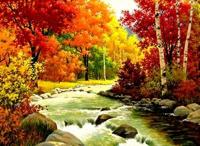 Набір для творчості зі стразами на підрамнику Золота осінь 40*50 см