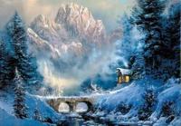 Набір для творчості зі стразами на підрамнику Зима 40*50 см