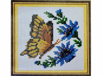 Набір для творчості зі стразами 23 * 21 см, Метелик з синіми кольорами