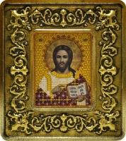 701101 Христос Спаситель (золото, лилии)