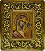 701102 Богородица Казанская (золото, лилии)