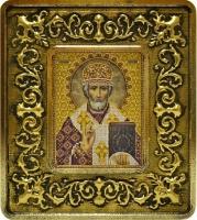 701103 Николай Чудотворец (золото, лилии)