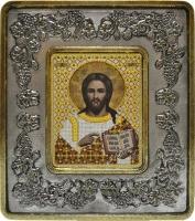702201 Христос Спаситель (серебро, виноград)