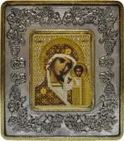 702202 Богородица Казанская  (серебро, виноград)