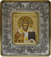 702203 Николай Чудотворец (серебро, виноград)