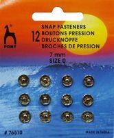 76510 Кнопки одежные Pony D7 мм, никель