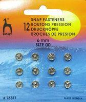 76511 Кнопки одежные Pony D6 мм, никель