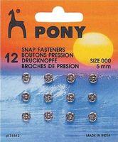 76512 Кнопки одежные Pony D5 мм, никель