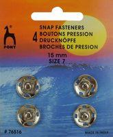 76516 Кнопки одежные Pony D15 мм, никель